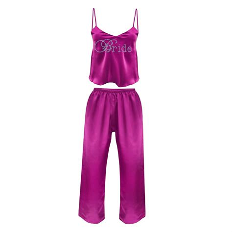 braut pyjama personalised bridal satin pyjamas bridal satin pjs