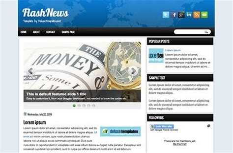 free xml flash templates for blogger flashnews blogger template deluxetemplates
