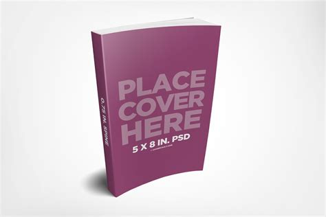 book free 5 x 8 paperback ebook mockup template covervault