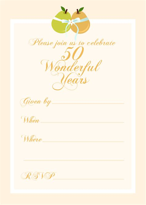 Anniversary Invitation Templates Free Printable Vastuuonminun Invitations Templates Free