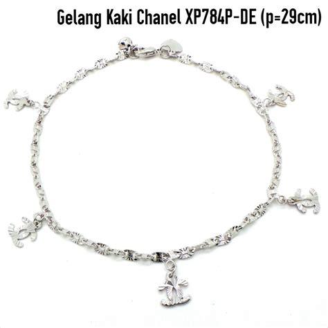 Gelang Kaki Putih Dadu harga perhiasan gelang chanel lapis emas bracelets id priceaz