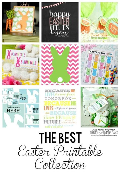 Thirty Handmade Days - the best easter printable collection thirty handmade days