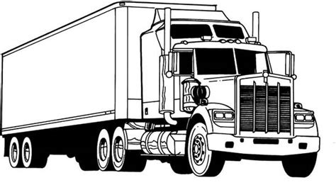 Semi Coloring Pages by Amazing Semi Truck Coloring Page Netart