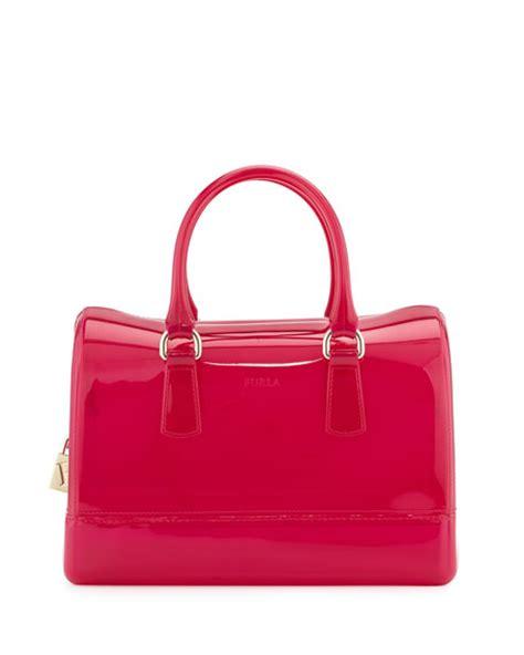 Lollipops Pink Patch Medium Bag by Furla Medium Satchel Bag Bright Pink