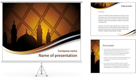islam powerpoint template islam religion powerpoint template backgrounds id