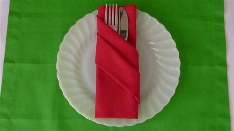 Folding Silverware In Paper Napkins - napkin folding buffet pouch