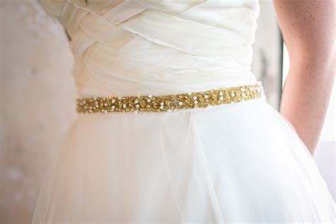 gold beaded belt gold pearl beaded wedding sash belt thin bridal belt