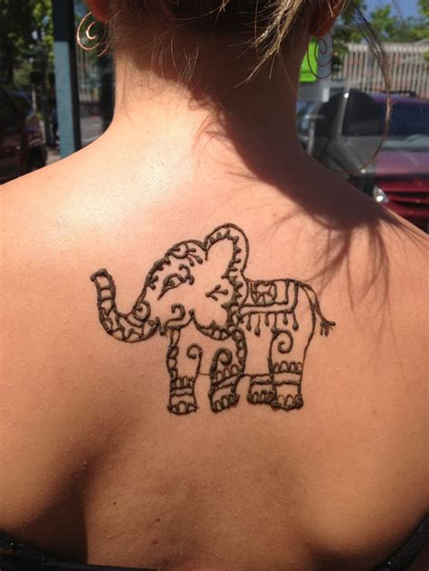 elephant henna tattoo tattoos pinterest henna cute