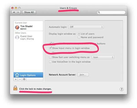 keyboard layout login screen mac osx mac os startup keyboard super user