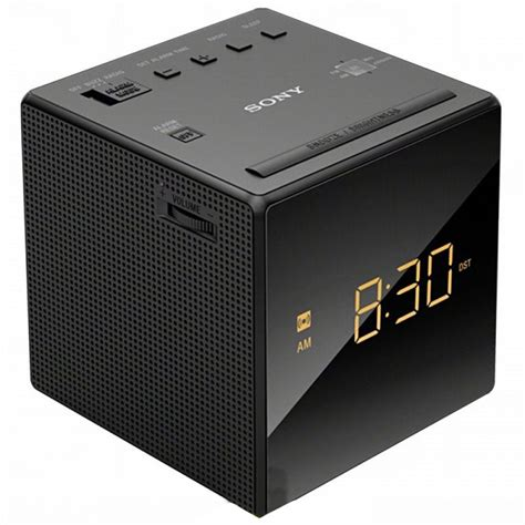 Sony Clock Radio Icf C1 Sony sony icf c1 black fm am cube clock radio with gradual