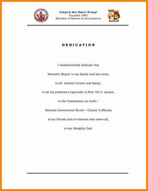 Narrative Report Letter 4 Dedication Letter Sle Mail Clerked