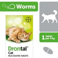 Bayer Drontal Cat 1 Tablet drontal cat worming tablets from 163 1 61