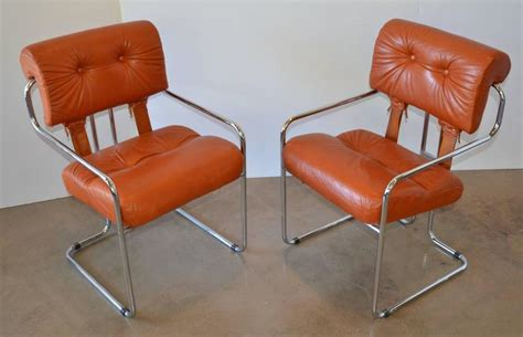 leather and chrome dining chairs leather and chrome tucroma dining chairs for pace set of
