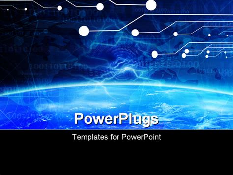 slide layout technology definition powerpoint template technology banner on a soft blue
