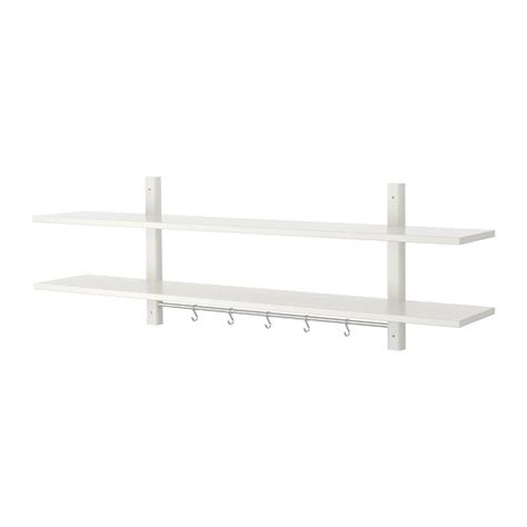 White Shelf With Hooks by V 196 Rde Wall Shelf With 5 Hooks White