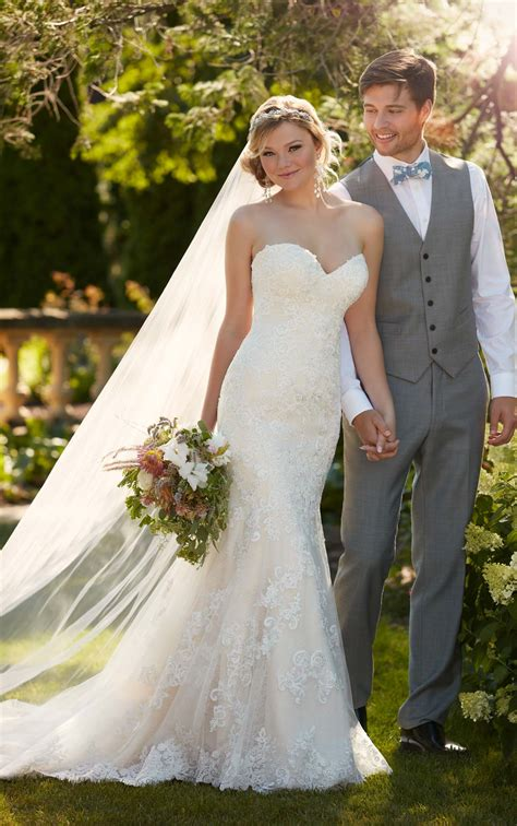 Wedding Gown Strapless by Fit N Flare Strapless Wedding Gown I Essense Of Australia