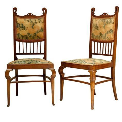set of six nouveau dining chairs early 1900s