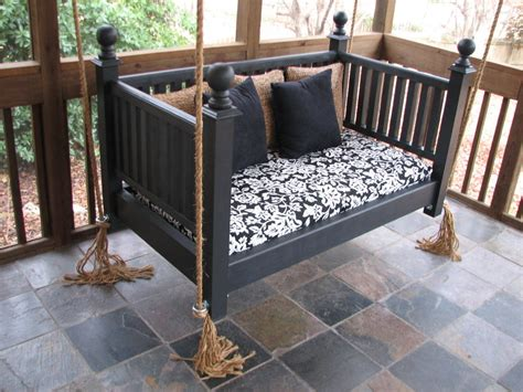 Daybed Porch Swing Repurposed Crib Into Porch Swing Source