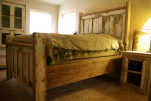 Barn Door Bed Frame Reclaimed Rustics Vintage Door Headboard