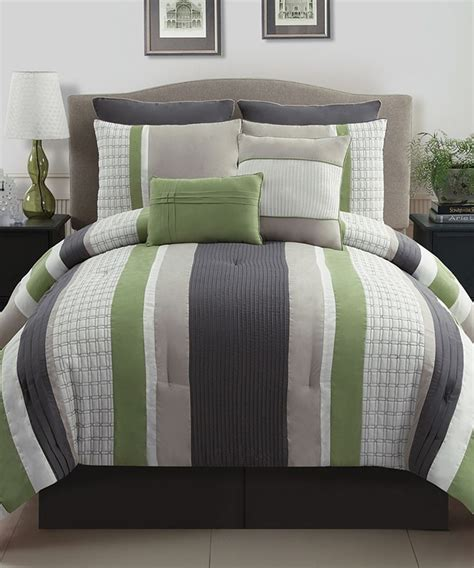 Grey And Green Bedding green gray comforter set