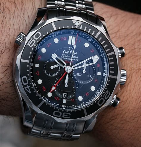 Omega Seamaster Gmt Leather Cronograph omega seamaster 300m chronograph gmt co axial on watches omega