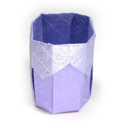 How To Make A Cup Out Of Paper - how to make a 3d origami paper cup ii page 1