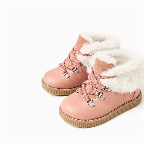 zara kid shoes lined mountain style boots shoes and bags baby 3