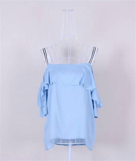 Baju Atasan Wanita Blouse White Random Scratch S Jual Fkyqs Baju Sabrina Bahu Terbuka Atasan Putih Atasan