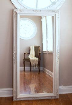 floor fullngth mirror for sale vintage white baroque large rectangular louis style carved silver full length