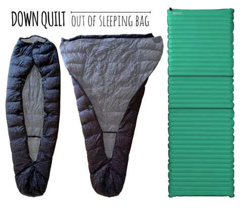 sleeping bag to quilt conversion