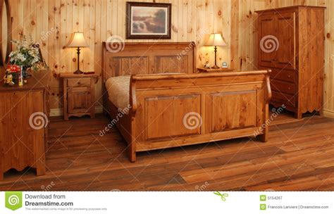 pine wood bedroom set royalty free stock photography image 5154267
