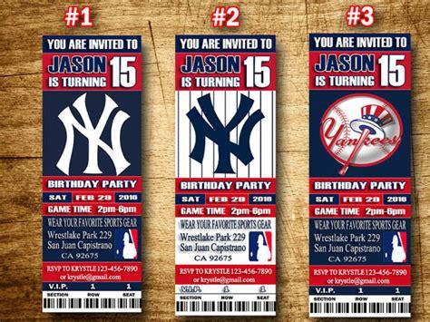 printable yankee tickets new york yankees ticket invitation baseball by sportfundigital