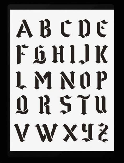 Schablone Schrift Selber Machen by Schrift Schablonen Gotische Buchstaben A Z Hobby