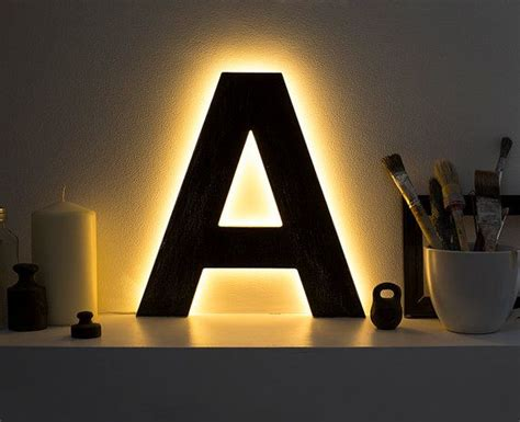 wooden l light up letters led l letters for