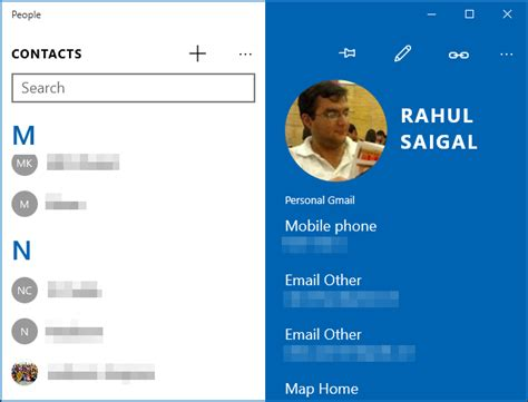 App To Find Peoples Address How To Add Contacts From Gmail Outlook And More To Windows 10 S Address Book