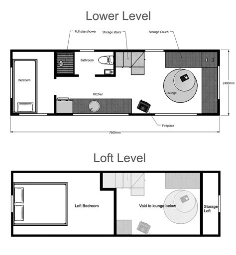 mini homes floor plans tiny house plans suitable for a family of 4