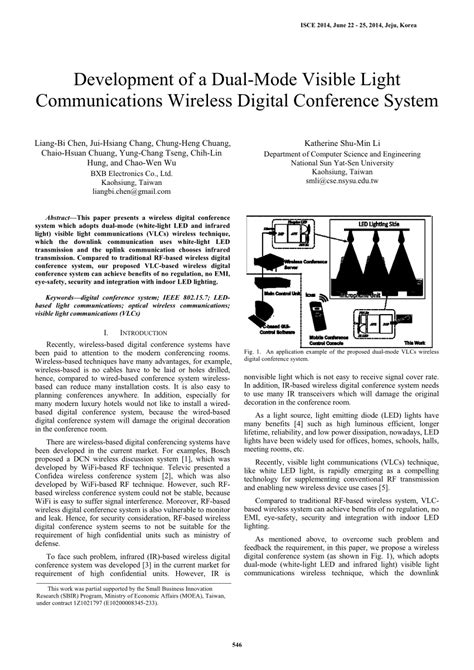 research paper on visible light communication development of a dual mode visible light pdf