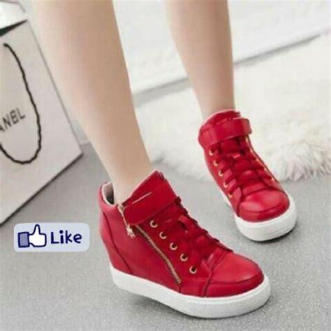 Sepatu Wanita Sneakers Wedges jual sepatu nike wedges sneakers boots wanita pink
