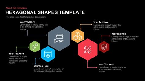 pattern shapes powerpoint hexagonal shapes template powerpoint and keynote slidebazaar