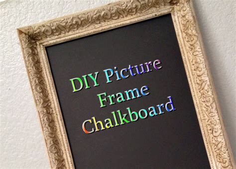 diy chalkboard frame diy picture frame chalkboard anythingfromhome