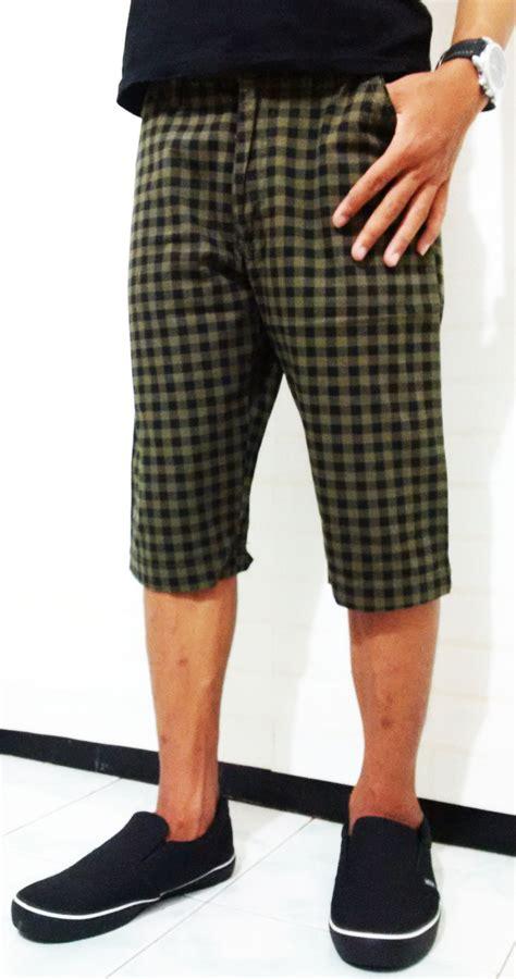 Celana Pendek Wanita Kotak Kotak jual palma fashion celana pendek pria kotak kotak celana pendek pria terbaru nbx denim