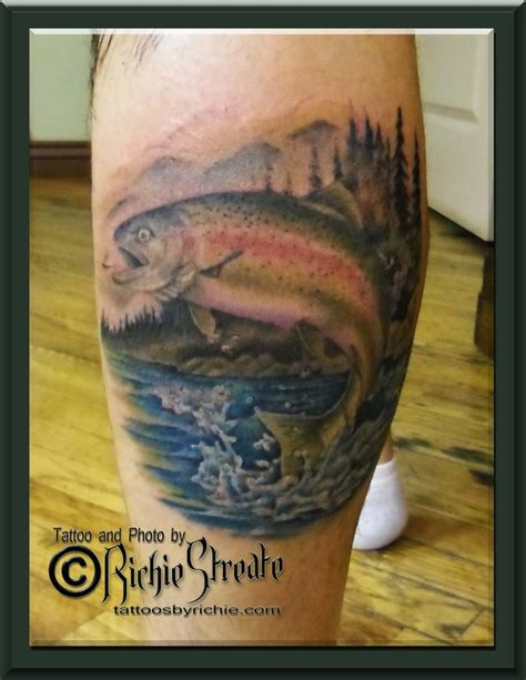 trout tattoo trout animal tattoos by richie streate