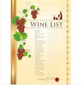 wine menu templates wine menu list creative vector 01 vector cover free