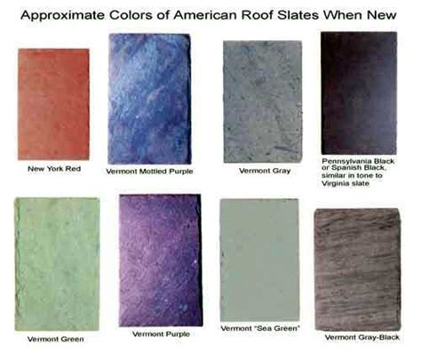 what color is slate how to identify roof slate