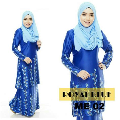 Baju Dan Kulot Royal Floral Hitam baju kurung moden melia all sold out saeeda collections