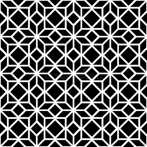2 color pattern vector black and white simple star shape geometric seamless