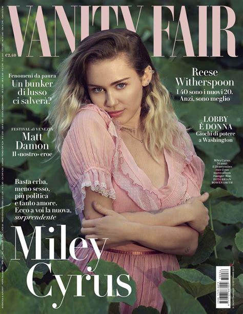 vanit fair miley cyrus vanity fair magazine italy september 2017 issue