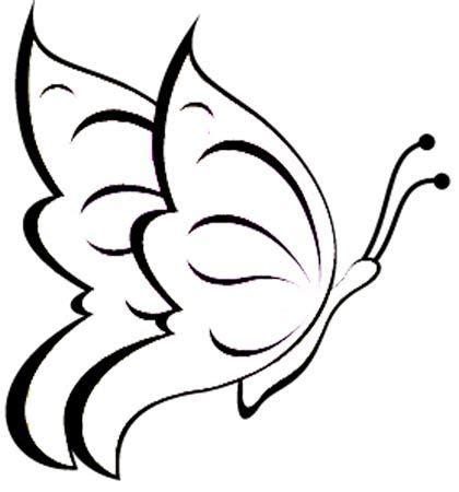 Muster Zeichnen Vorlagen fliegender schmetterling malvorlage zeichnen
