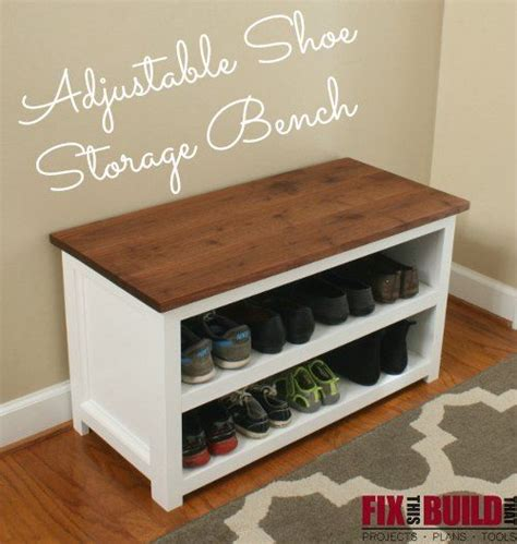 shoe storage chest bench conquer your foyer with this adjustable shoe storage bench