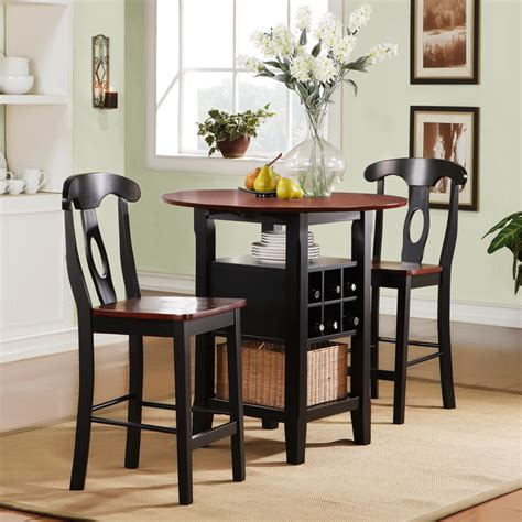 Small Indoor Bistro Table Set Tribecca Home Rwanda Two Tone Napoleon 3 Bistro Kitchen Set Contemporary Indoor Pub